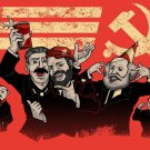 Communist Party Leaders Funny Pun Humor - Plywood Wood Print Poster Wall Art