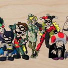 Heroes Villains Game & Super Hero Parody - Plywood Wood Print Poster Wall Art