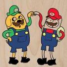 Plumbing Time Main Friends Game & TV Parody - Plywood Wood Print Poster Wall Art