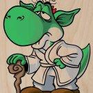 Plumbing Wars Wise Alien Hero Movie Parody - Plywood Wood Print Poster Wall Art