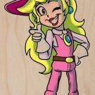 Plumbing Story Western Cowgirl Movie Parody - Plywood Wood Print Poster Wall Art