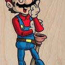 Plumbing Story Western Cowboy Movie Parody - Plywood Wood Print Poster Wall Art