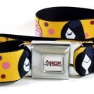 Adventure Time Seatbelt Belt - Marceline and Princess Bubblegum with Polka Dots