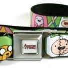 Adventure Time Seatbelt Belt - Finn, Jake and Princess Bubblegum