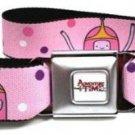 Adventure Time Seatbelt Belt - Princess Bubblegum Pink with Dots