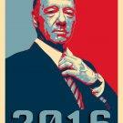Frank Underwood Hope TV Political 2016 Parody - Rectangle Refrigerator Magnet