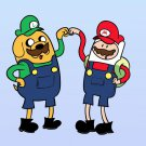 Plumbing Time Best Friends Game & TV Show Parody - Rectangle Refrigerator Magnet