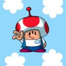 Plumbing Story Alien Mushroom Game Movie Parody - Rectangle Refrigerator Magnet