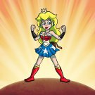 Plumbers League of America Female Hero Game & Super Hero Parody - Vinyl Sticker