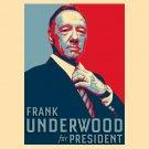 Frank Underwood For President Hope TV Show Political Parody - Vinyl Sticker