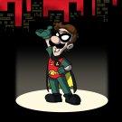 Red Bird Sidekick Hero Video Game & Bat Super Hero Parody - Vinyl Sticker
