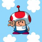 Plumbing Story Alien Mushroom Game & Cartoon Movie Parody - Vinyl Sticker
