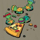 """Pizza Love"" Turtle Cartoon Show Parody - Plywood Wood Print Poster Wall Art"