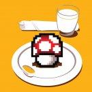 """Nutritious Breakfast"" Video Game Parody w/ Mushroom Plate - Vinyl Print Poster"