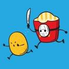 """""""French Fried Jason"""" Classic Horror Slasher Movie Parody - Vinyl Print Poster"""
