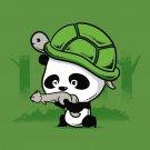 """The WAR Partners"" Cute Panda w/ Turtle Helmet & Squirrel Gun - Vinyl Sticker"