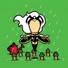 """Part-time JOB Veggie Farm"" Parody Super Hero Watering Garden - Vinyl Sticker"