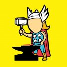 """Part-time JOB Metal Factory"" Parody Super Hero Hammers Metal - Vinyl Sticker"