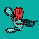 """Part-Time JOB Sport Shop"" Parody Super Hero Tennis Racquet - Vinyl Print Poster"