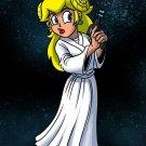 Plumbing Wars Main Female Hero Game & Space Movie Parody - Vinyl Print Poster