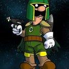 Plumbing Wars Bounty Hunter Game & Space Movie Parody - Vinyl Print Poster