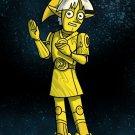 Plumbing Wars Shiny Robot Man Game & Space Movie Parody - Vinyl Print Poster