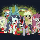 My Little Zombies Parody Zombie Dead TV Show Logo w/ Horses - Vinyl Print Poster