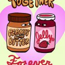 PBJ Forever Peanut Buttery & Jelly Love Humor - Rectangle Refrigerator Magnet