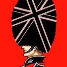 London Man Queen's Guard Red & Black Uniform - Rectangle Refrigerator Magnet