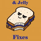 Peanut Butter & Jelly Fixes Everything Food Humor Cartoon - Vinyl Print Poster