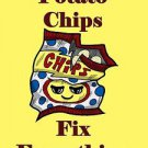 Potato Chips Fix Everything Food Humor Cartoon - Vinyl Print Poster