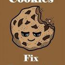 Cookies Fix Everything Food Humor Cartoon - Vinyl Print Poster