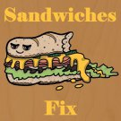 Submarine Sandwiches Fix Everything Food - Plywood Wood Print Poster Wall Art