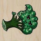 Broccoli Fixes Everything Food Humor - Plywood Wood Print Poster Wall Art