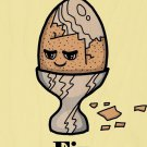 Eggs Fix Everything Food Humor Cartoon - Plywood Wood Print Poster Wall Art