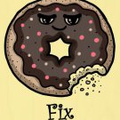 Donuts Fix Everything Food Humor Cartoon - Plywood Wood Print Poster Wall Art