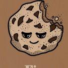Cookies Fix Everything Food Humor Cartoon - Plywood Wood Print Poster Wall Art