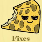 Cheese Fixes Everything Food Humor Cartoon - Plywood Wood Print Poster Wall Art