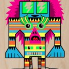 Punk Skate Totem Skateboarding Colorful Art - Plywood Wood Print Poster Wall Art