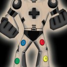 Playbot Funny Giant Robot Game Controller - Plywood Wood Print Poster Wall Art