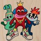 Fresh Homies Funny Cartoon Gang Humor - Plywood Wood Print Poster Wall Art