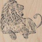 """Majestic Lion"" Big Cat Jungle King Artwork - Plywood Wood Print Poster Wall Art"