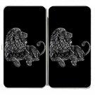 """Majestic Lion"" Big Cat Jungle King Artwork - Womens Taiga Hinge Wallet Clutch"