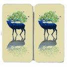 Elk of Nature Animal Artwork Design - Womens Taiga Hinge Wallet Clutch