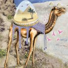 """""""Mystical Camel"""" Sahara Desert w/ Egypt Pyramids- Rectangle Refrigerator Magnet"""