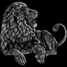 """""""Majestic Lion"""" Big Cat Jungle King Artwork - Rectangle Refrigerator Magnet"""
