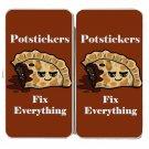 Potstickers Fix Everything Food Humor Cartoon - Womens Taiga Hinge Wallet Clutch