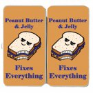 Peanut Butter & Jelly Fixes Everything Food - Womens Taiga Hinge Wallet Clutch