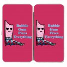 Bubblegum Fixes Everything Food Humor Cartoon - Womens Taiga Hinge Wallet Clutch