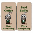 Iced Coffee Fixes Everything Food Humor - Womens Taiga Hinge Wallet Clutch